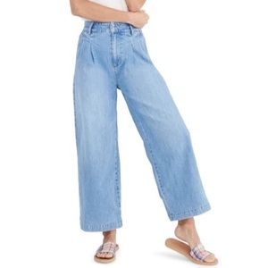 Madewell Pleated Wide-Leg Jeans Plus Size